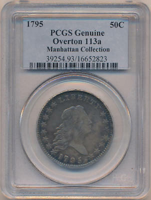 1795 Bust Half Dollar. Manhattan Collection, PCGS Genuine. Overton 113a
