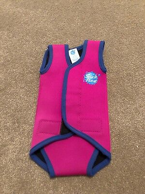Baby Girls Splash About Pink Warm In Water Swim Wetsuit Age 0-6 Months VGC