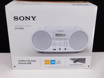 Sony zs-ps50Digitale 4W Radio CD Digital AM FM Player