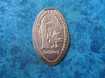 GREAT SMOKY MOUNTAINS GATLINBURG COPPER Elongated Penny Pressed Smashed 21