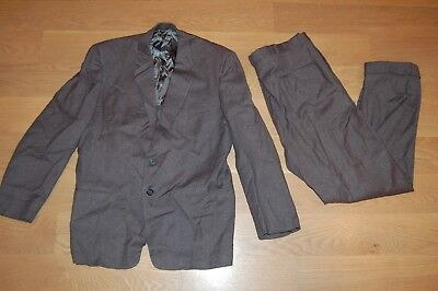 VTG 50s ATOMIC FLECKED gray 2-PC SUIT ROCKABILLY RATPACK high waisted SUIT 42R