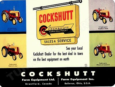 "COCKSHUTT FARM EQUIPMENT 9"" x 12"" Sign"