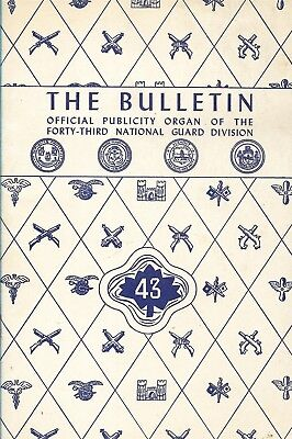 43rd National Guard Division Induction 1941 The Bulletin Booklet With Colt Ad