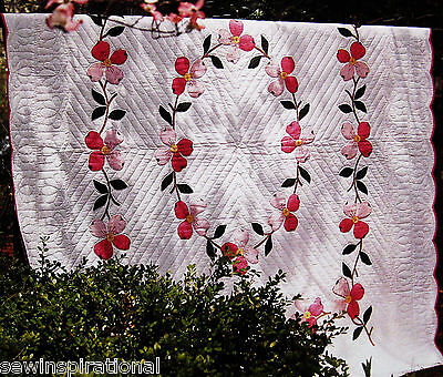 Grandmother's Dogwood Vintage Quilt Pattern Applique Spring Bloom