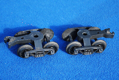Vintage Pair of Kusan Freight Car Trucks with Couplers 1960s