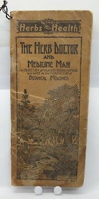 1930 Illinois Herbs Health Doctor Medicine Man Botanical Catalog Pictures le261