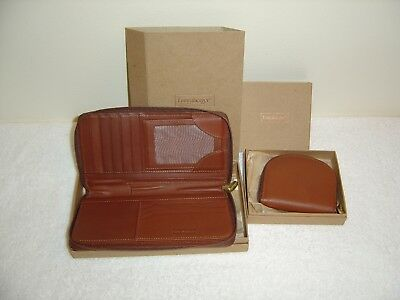NEW Longaberger Country Estates Leather Wallet and Coin Purse