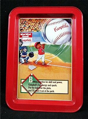 1996 Campbell Soup Kids Baseball Adv Metal Tray Old Store Stock