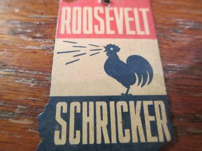 Vintage Roosevelt Schricker State of Indiana Pin