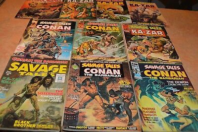 1971 Marvel Savage Tales Comic Book Set!!! Issues 1-10!!! Must See!!!