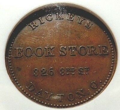 DAYTON OHIO - RICKEY'S BOOK STORE - 230D - 1a - NGC MS - 62 - NO RESERVE