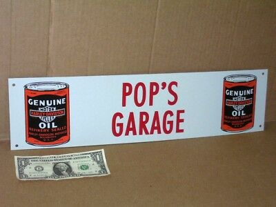 HARLEY-DAVIDSON Oil Can - POP'S GARAGE Sign -For CAR or TRUCK Workshop TOOL ROOM