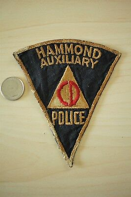 Vintage Hammond Indiana Auxiliary Police Civil Defense Sew-on Patch