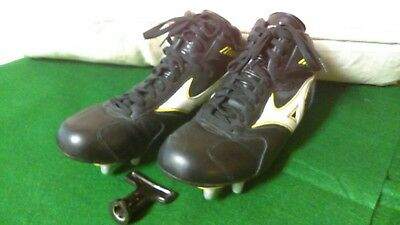 Mizuno Leather Rugby Boots 12.5 New Zealand All Blacks N.Z.R.F.U. Official