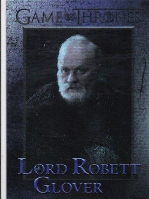 2018 Game Of Thrones Season 7 Lord Robett Glover Foil Trading Card #67