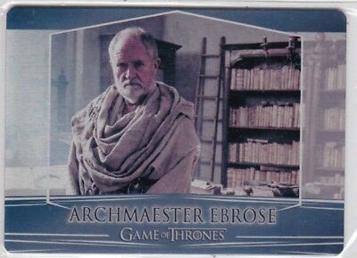2018 Game Of Thrones Season 7 Archmaester Ebrose Metal Trading Card See Scan
