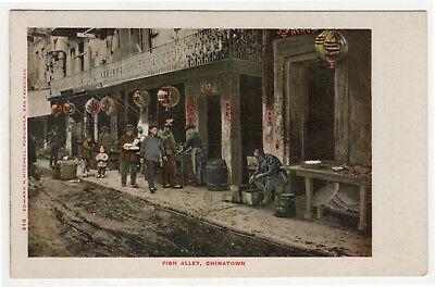 SAN FRANCISCO CHINATOWN Fish Alley PC Postcard CHINA Asia ASIAN Edward Mitchell