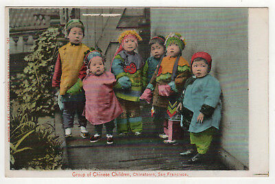 CHINATOWN SAN FRANCISCO California PC Postcard GROUP OF CHINESE CHILDREN China