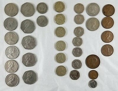 Vintage England UK Great Britain Coin Money Various Lot Pound Shilling Pence