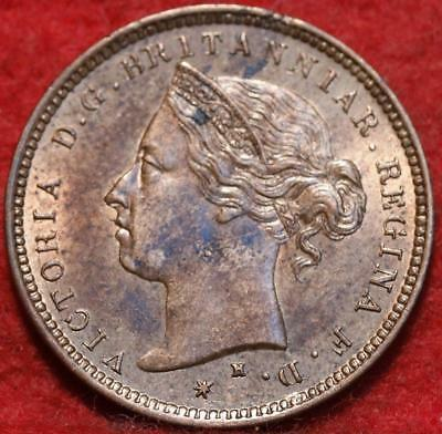 Uncirculated 1877-H Jersey 1/48 Shilling Foreign Coin