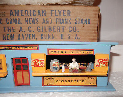 American Flyer Very Rare Pepsi Cutout 270 News & Frank Stand Brand New OB