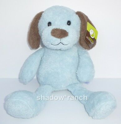 Nwt Animal Adventure Blue Puppy Dog Plush Brown Ears Nose Stuffed