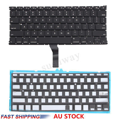 For Apple MacBook Air 13'' A1369 A1466 2011-2015 Keyboard With Backlight Black