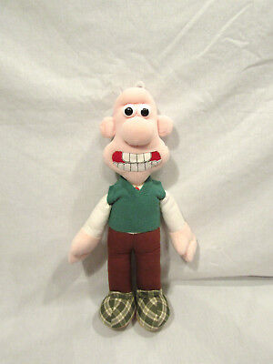 Wallace & Gromit Plush Stuffed Doll Toy 1989 Vintage Sweater Vest Cartoon!