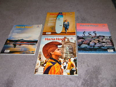 "4 Assorted Hawaiian Airlines In-Flight ""hana Hou!"" Informative Magazines"