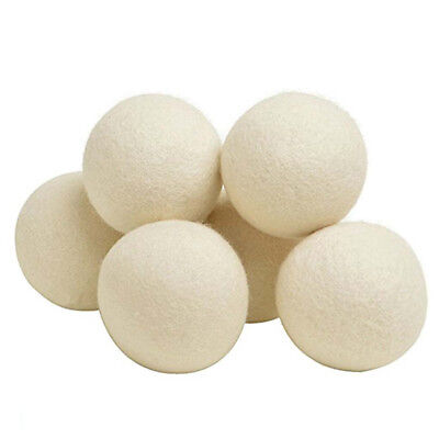 6Pcs Natural Reusable Wool Dryer Ball Dry Care Fabric Softer Luandry Washing 6cm