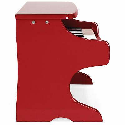 Kids 25 Full Size Key Beginner Learn To Play Piano Note Stickers Music Book Red