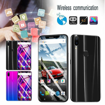 "6.2 ""Octa core 4GB + 64GB Mobile Phone Smartphone Dual SIM 16MP Android OS 8.1"