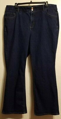 Lane Bryant 26 Plus Size Straight Leg Tighter Tummy Technology Jeans and Pockets