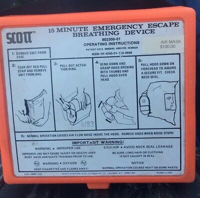 Emergency Escape Breathing Device By Scott Military Surplus