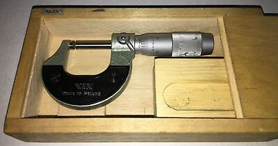 Vis 0-1 In Micrometer W/ Carbide Faces .0001 Graduations Friction Thimble Poland
