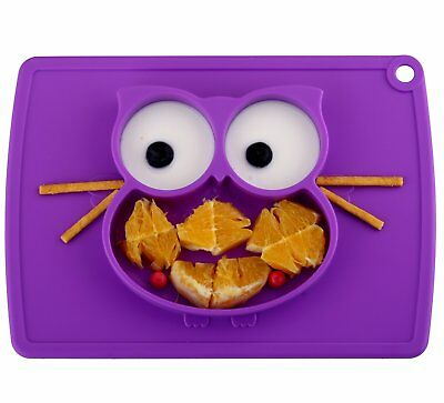 Toddler Plate, Portable Baby Plates for Toddlers and Kids, BPA-Free FDA Approved