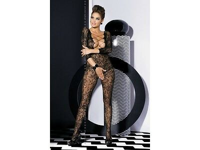 Sexy Obsessive Catsuit Woman F200 Schritt offen Body Stocking Schwarz S-XXL Hot
