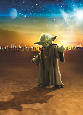 STAR WARS Art Silk Poster 12x18 24x36 24x43 MAY THE FORCE BE WITH YOU YODA