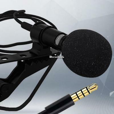 Mini Clip-on Lapel Microphone Hands-free 3.5mm Condenser Wired Microphone DL0