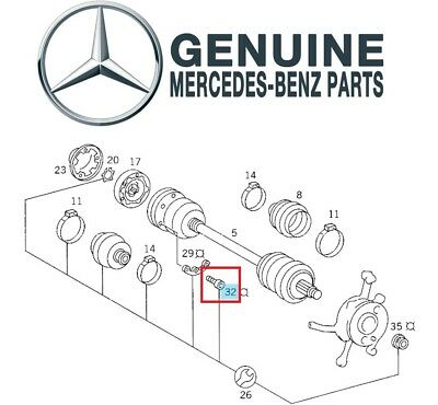 MERCEDES CV AXLE Rear New OE W116 W126 - $520 00 | PicClick