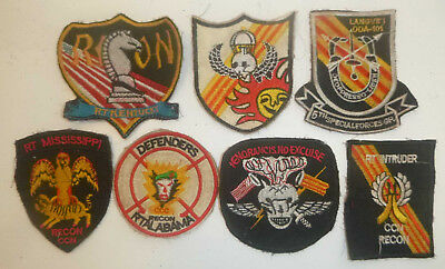 LOT x 7 PATCHES - US SPECIAL FORCES - SOG SPIKE RECON TEAMS - Vietnam War, E.53