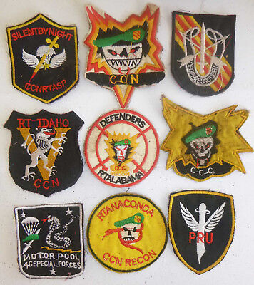 LOT x 9 PATCHES - US SPECIAL FORCES - SHELL BURST, AIRBORNE - Vietnam War, E.44