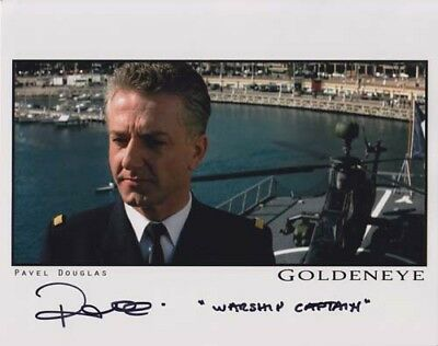 Pavel Douglas 007 James Bond Authentic Autograph As Warship Captain Goldeneye