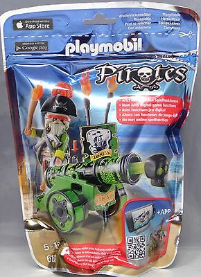 Playmobil Pirates 6162 Grüne App-Kanone mit Piratenkapitän Pirat Waffen NEU NEW