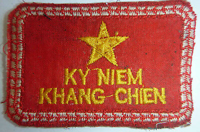 Rare Viet Cong Patch - Ho Chi Minh Trail - TO RESIST - VC - NLF - Vietnam War, R