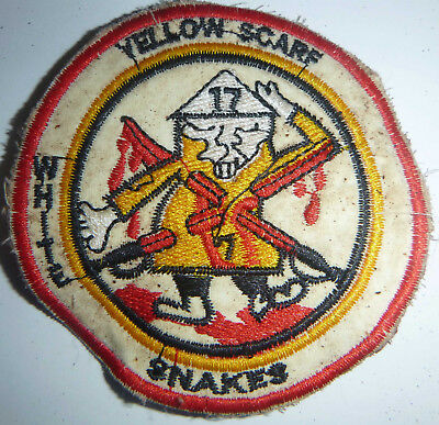Patch - WHITE SNAKES - YELLOW SCARF - 7th / 17th AIR CAVALRY - Vietnam War - W