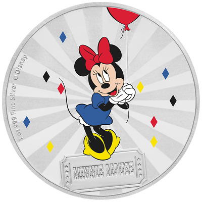Niue 2 Dollar 2019 Minnie Mouse™ Mickey Mouse™ & Friends (2.) 1 Oz Silber PP