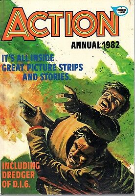 Vintage Action annual 1982 Adventure Human Bomb Haunted Ship Smugglers Patcheye