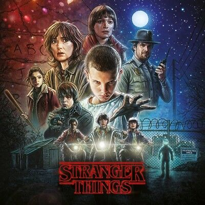 Stranger Things - One Sheet Poster Leinwand-Druck Bild (30x30cm) #120125