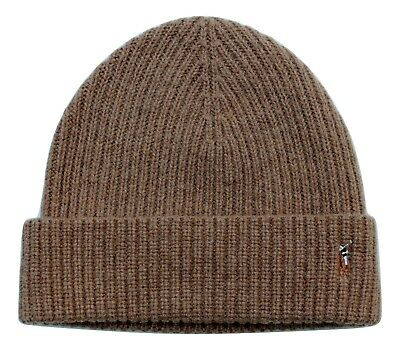 Polo Ralph Lauren Men's Cuffed Beanie Skull Cap Winter Hat NWT  Camel Tan